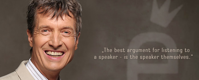 The best argument for listening to a speaker is the speaker themself.